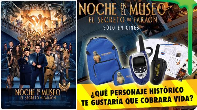 UNA NOCHE EN EL MUSEO 3: EL SECRETO DEL FARAÓN TE REGALA 10 PACKS CON REGALOS DE LA SERIE