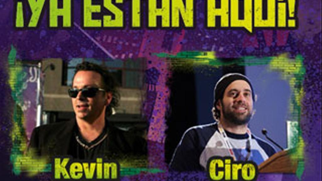 Kevin Eastman y Ciro Nieli, creador y productor de Las Tortugas Ninja !YA ESTÁN AQUÍ!