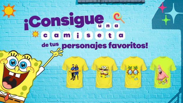 Consigue una camiseta de los personajes de Nickelodeon... ¡Juega con nosotros!