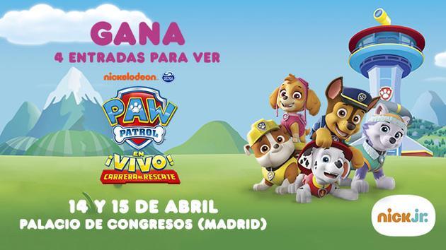 ¡Gana cuatro entradas para ver a la Patrulla Canina en vivo!