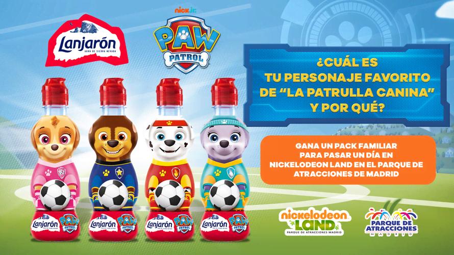 Consigue entradas a Nickelodeon Land con Lanjarón y La Patrulla Canina