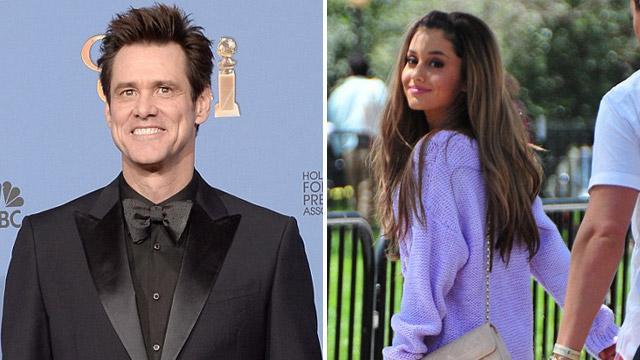 Ariana Grande elsírta magát Jim Carrey-től