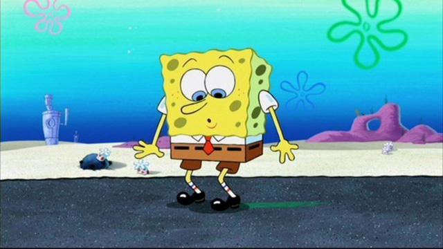 SpongeBob în pantaloni lungi!