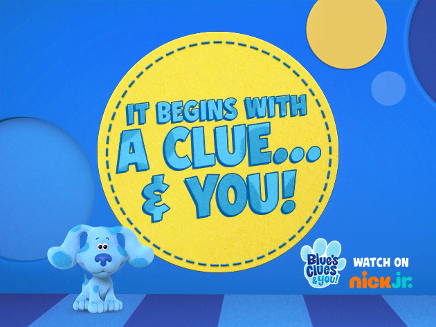 Meet Blue! Click to watch Blue's Clues and You videos!
