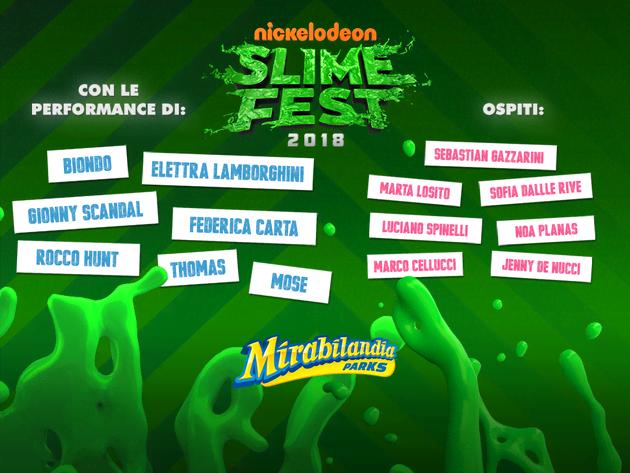 SlimeFest 2018 con Shade, Thomas, Federica Carta...