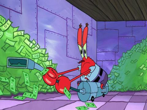 El dragón del dinero - Bob Esponja