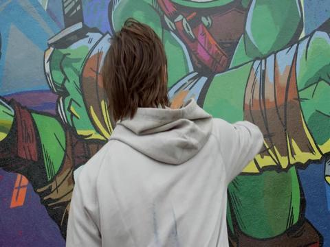 Tini-Nindzsa Graffitisek